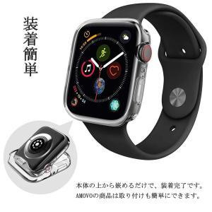 AMOVO Apple Watch Series4 ケース 44mm TPU 保護ケース 耐衝撃性 超簿 脱着簡単 Apple Watch micomema