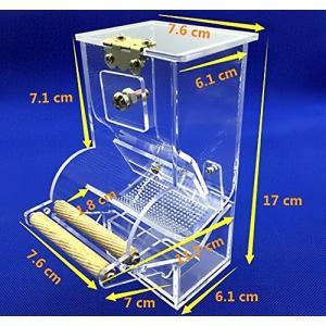 自動エサやり機 Mサイズ 自動給餌器 バードフィーダー 餌やり 餌入れ 給餌機 インコ オウム 文鳥...