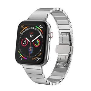 NotoCity Apple Watch ステンレススチール バンド ビジネス風 アップルウォッチ ベルト対応 Apple Watch Se micomema