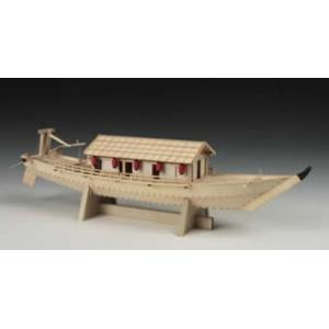 帆船模型 木製模型 キット ウッディ ジョー 屋形船      長さ×高さ:640x150x130m...