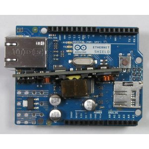 Arduino Ethernet Shield R3 with PoE Module, イーサネット シールド|microfan