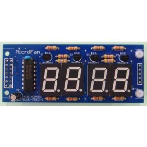BLUE-7SEG-1 4桁7セグメントLED表示装置|microfan