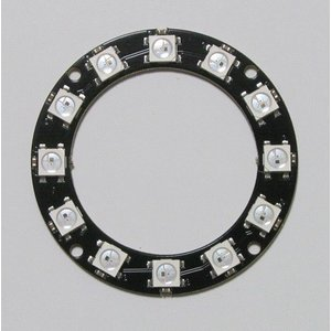 カラーLEDリング(WS2812B 12個)|microfan