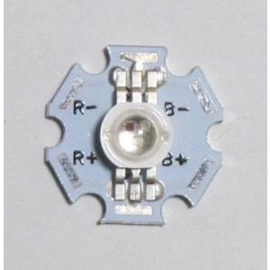 パワーRGB-LED-3W(ヒートシンク付) 100個|microfan