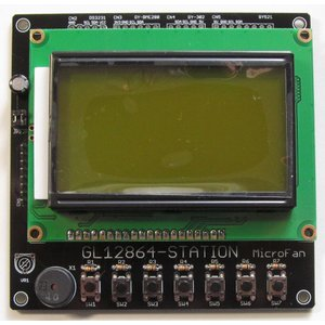 GL12864-STATION (SPIグラフィック表示拡張ボード) キット|microfan