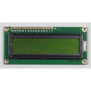 16文字2行液晶文字ディスプレイ(3.3V、文字黒、バックライト黄緑)|microfan