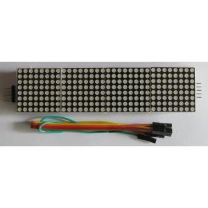 MAX7219 8X8ドットマトリックス4連赤色LEDモジュール|microfan
