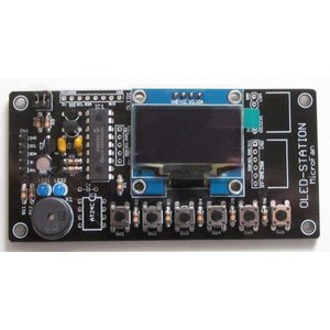 OLED-STATION (I2Cグラフィック表示拡張ボード) キット|microfan