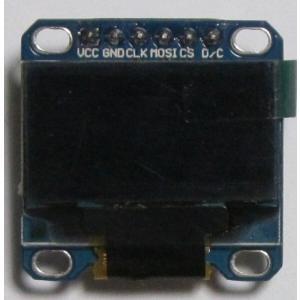 OLEDディスプレイモジュール0.96インチ128X64ピクセル-SPI-6PIN-黄青|microfan