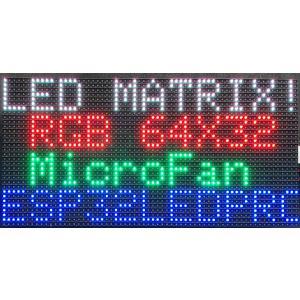 P4 RGB LEDマトリックスパネル 64X32ピクセル 256mmx128mm 室内用|microfan