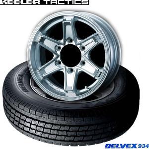 【キャラバン】195/80R15 107L(4本セット)《トーヨーDELVEX 934 & KEELER FORCE》|midori-tire