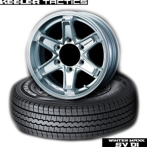 【キャラバン】195/80R15 107L(4本セット)《ダンロップWINTER MAXX SV01 & KEELER FORCE》|midori-tire