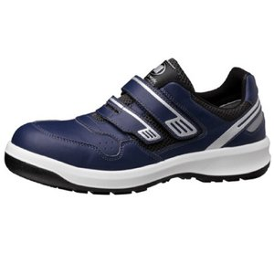 ミドリ安全 安全靴 男女兼用 ワイド樹脂先芯 メッシュ スニーカー安全靴 G3695 (マジックタイプ) ネイビー 大 通気性 日本製 midorianzen-com