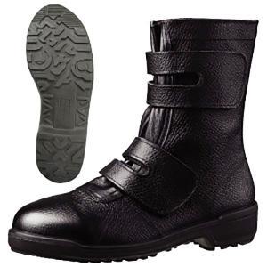 ミドリ安全 安全靴 MZ035J ブラック ワークブーツ マジックタイプ 作業用 工事 現場 建設 ...