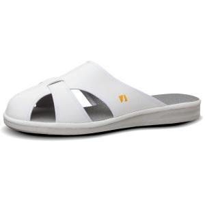 ミドリ安全 男女兼用 静電作業靴 PS-01ライトS ホワイト ナースシューズ ナースサンダル 通気構造 医療 衛生 靴 midorianzen-com