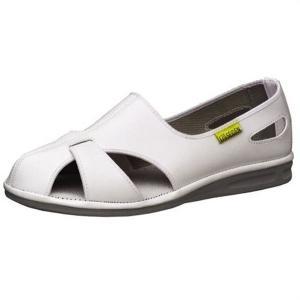 ミドリ安全 男女兼用 静電作業靴 エレパスクールN 大 ホワイト ナースシューズ 大きいサイズ 通気構造 医療 衛生 靴 midorianzen-com