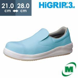 ミドリ安全 先芯入り超耐滑作業靴 ハイグリップ・ザ・サード NHS-600 ブルー 滑らない靴が必要...