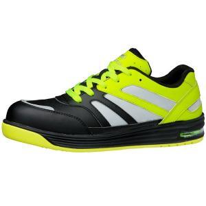 ミドリ安全 高視認スニーカー安全靴 ワークプラスWPA-RF01 ブラック/蛍光イエロー ローカット おしゃれ|midorianzen-com