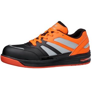 ミドリ安全 高視認スニーカー安全靴 ワークプラスWPA-RF01 ブラック/蛍光オレンジ ローカット おしゃれ|midorianzen-com