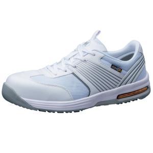 ミドリ安全 ワークプラス エアHG ISA-801 静電 ホワイト 先芯入りスニーカー安全靴 ローカット メッシュ 通気性 蒸れない|midorianzen-com