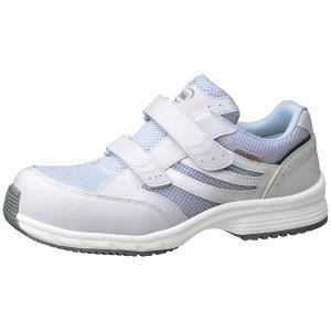 ミドリ安全 スニーカー安全靴 ワークプラス SLS-705 静電 ホワイト(マジックタイプ) ローカット|midorianzen-com