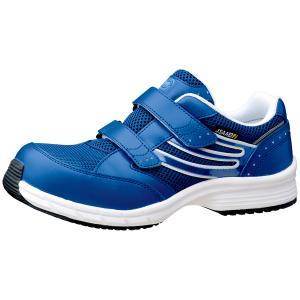 ミドリ安全 スニーカー安全靴 ワークプラス SLS-705 静電 ブルー(マジックタイプ) ローカット|midorianzen-com