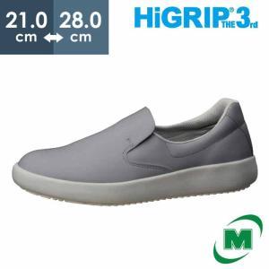 ミドリ安全 超耐滑作業靴 ハイグリップ・ザ・サード NHS-700 グレイ 滑らない靴が必要な職場に おしゃれ かっこいい 厨房 調理|midorianzen-com