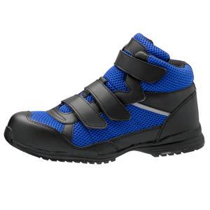 ミドリ安全 超耐滑先芯入りスニーカー WPT-125 ブルー 男女兼用 通気メッシュ 安全作業靴|midorianzen-com