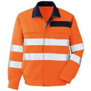ミドリ安全 JIS規格適合品 高視認ブルゾン VES 2325上 オレンジ 夜間 作業着 作業服 現場|midorianzen-com