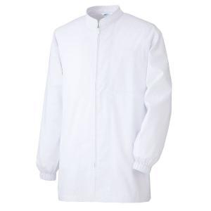 ミドリ安全 白衣 男女共用 長袖コート MHS327上 ホワイト 食品産業 食品加工 厨房 キッチン|midorianzen-com