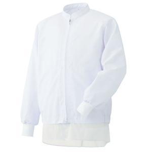 ミドリ安全 白衣 男女共用長袖ブルゾン MHS3218W 上 ホワイト 食品産業 食品加工 厨房 キッチン|midorianzen-com