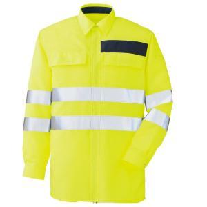 ミドリ安全 JIS規格適合品 高視認シャツ VES2334上 イエロー 夜間 作業着 作業服 現場|midorianzen-com
