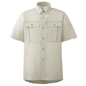 ミドリ安全 ペア半袖さらりシャツ RCS600 上 アイボリー|midorianzen-com