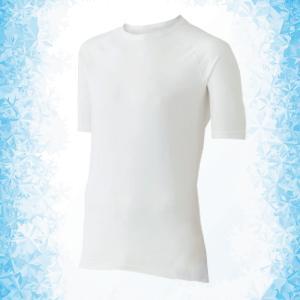 ミドリ安全 男女共用 半袖Tシャツ クールインナー FTC01W 上 ホワイト ひんやり|midorianzen-com