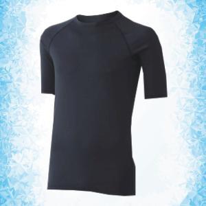 ミドリ安全 男女共用 半袖Tシャツ クールインナー FTC01BK 上 ブラック ひんやり|midorianzen-com