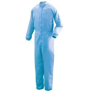 ミドリ安全 クリーンウェア 一般型クリーンスーツ C1031B ブルー 食品産業 食品加工 厨房 キッチン|midorianzen-com