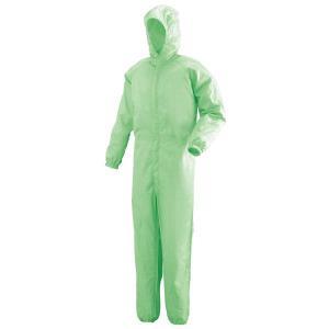 ミドリ安全 クリーンウェア フード一体型クリーンスーツ C1351G グリーン 食品産業 食品加工 厨房 キッチン|midorianzen-com