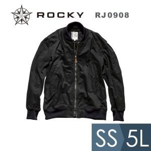 ROCKY ロッキー ユニセックスMA-1ジャケット RJ0908-16 ブラック SS〜5L 作業着 作業服 現場 工事  かっこいい|midorianzen-com