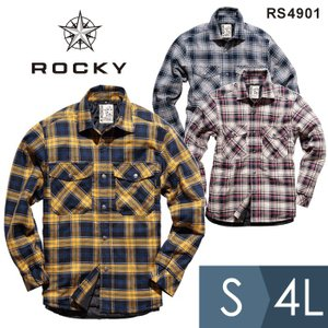 ROCKY ロッキー ユニセックスチェックキルトシャツ RS4901-2 RS4901-8 RS4901-10 全3色 S〜4L 長袖シャツ  かっこいい|midorianzen-com