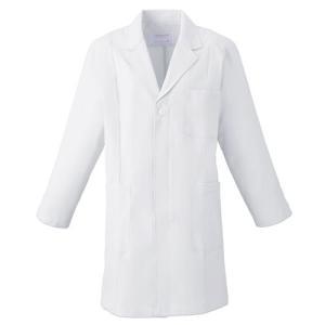 メンズ 薬局衣(ハーフコート) 1520-1 ホワイト 白衣 医療 衛生 作業着・服 男性用|midorianzen-com
