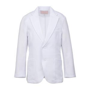 メンズ ドクタージャケット(シングル) 1011TW-1 ホワイト 白衣 医療 衛生 作業着・服 男性用|midorianzen-com
