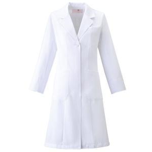 レディース ドクターコート HI400-1 ホワイト 白衣 医療 衛生 作業着・服|midorianzen-com