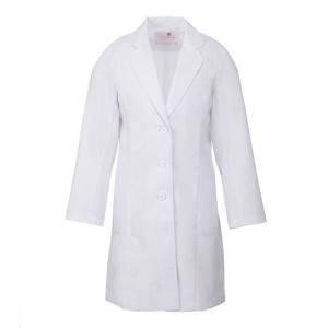 レディース ドクターコート HI401-1 ホワイト 白衣 医療 衛生 作業着・服|midorianzen-com