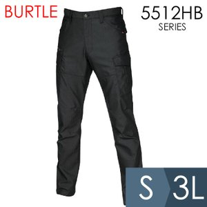 BURTLE バートル 春夏 作業服 5512HB-35 ヘリンボーンカーゴパンツ ブラック (S〜3L) 5511HBシリーズ|midorianzen-com