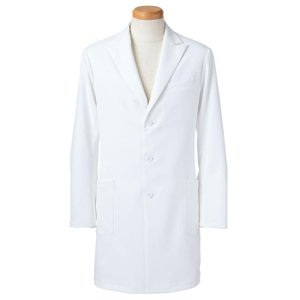 長袖ドクタージャケット メンズ R2491-21 ホワイト (S〜4L) 白衣 医療 衛生 メディカルウェア 男性用|midorianzen-com