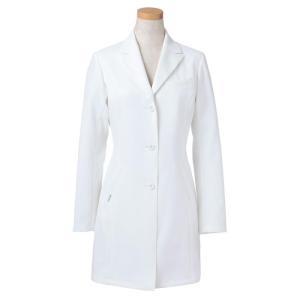 長袖ドクタージャケット R2440-21 レディス ホワイト (S〜4L) 白衣 医療 衛生 メディカルウェア|midorianzen-com