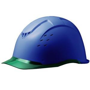 ミドリ安全 クリアバイザー&ベンチレーションヘルメット SC-13PCLV RA KP付 コンドル ブルー/グリーン|midorianzen-com