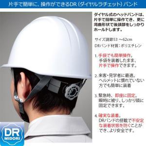 ミドリ安全 ダイヤルラチェットバンド ヘルメット SC-11PCLV DR α 35AB ブラック/スモーク|midorianzen-com|02