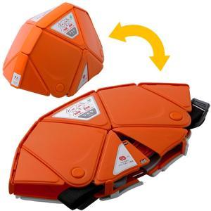 3.3cm 収納 折りたたみ防災ヘルメット TSC-10 Flatmet フラットメット オレンジ 防災グッズ セーフティ用品 国家検定合格品|midorianzen-com
