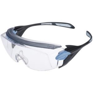 ビジョンベルデ 小型 保護めがね オーバーグラス VS-303F ブルー 作業用 安全めがね UVカット ミドリ安全|midorianzen-com